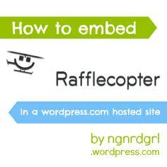 how to embed rafflecopter on wordpress.com
