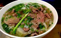 phở bò Pho Bo, Beef Noodle Soup, Meat, Ethnic Recipes, Food, Da Nang, Drinks, Music, Google
