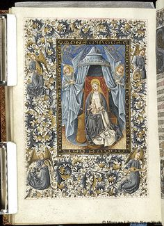 Book of Hours, MS M.854 fol. 122v - Images from Medieval and Renaissance Manuscripts - The Morgan Library & Museum