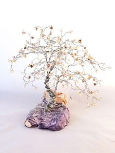 Large Bonsai Wire Gem Tree Variation Tree of Life Wire Wrapped with Semi Precious Gemstones **Warning: Gem Trees look so much better in person than they do in the photographs, prepare to be amazed!** This listing is for a custom order Wire Large Bonsai Gem Tree. Your gem tree will