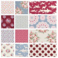 Tilda Sweetheart Full Fabric Bundle - Save 10% £43.2 http://www.thehomemakery.co.uk/fabric/tilda-fabrics/sweetheart/tilda-sweetheart-full-fabric-bundle-save-10