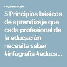 5 Principios básicos de aprendizaje que cada profesional de la educación necesita saber #infografia #education – TICs y Formación