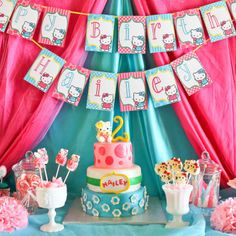 HELLO KITTY PARTY PRINTABLE COLLECTION http://mimisdollhouse.com/product/hello-kitty-party-printable-collection-copy/  #HelloKitty #HelloKittyParty #BirthdayParty