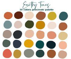 Color Palette For Home, Earthy Color Palette, Neutral Colour Palette, House Color Palettes, Color Tones, Retro Color Palette, Paint Color Palettes, Jewel Tones, Vintage Color Palettes