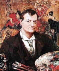Edward Atkinson Hornel by Bessie MacNicol 1896