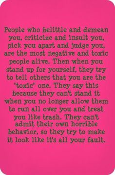 Narcissists are the most dishonest people you'll ever met. They'll provoke you and verbally attack you. When you react to their abuse and defend yourself, they'll turn either rageful or play the victim in front of others to make you look bad. Narcissistic Mother, Narcissistic Sociopath, Narcissistic Personality Disorder, Life Quotes Love, Me Quotes, Motivational Quotes, Inspirational Quotes, Girl Quotes, Quote Life