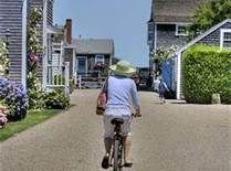 Bike riding in Nantucket...love the laid back lifestyle!