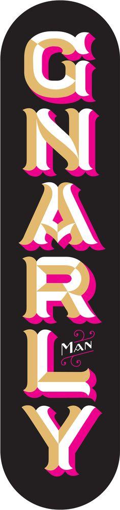 gnarly typography #typography #design