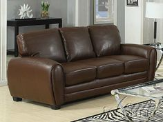 Amber Brown Bonded Leather Sofa by acme Furniture