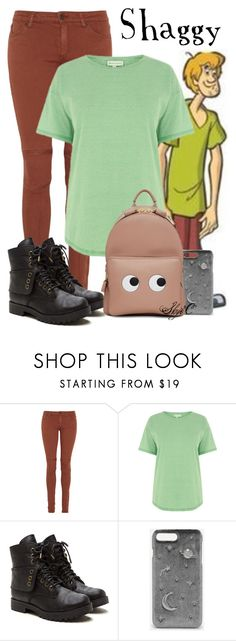 """Shaggy - Scooby Doo"" by rubytyra ❤ liked on Polyvore featuring Warehouse, CHARLES & KEITH and Anya Hindmarch"