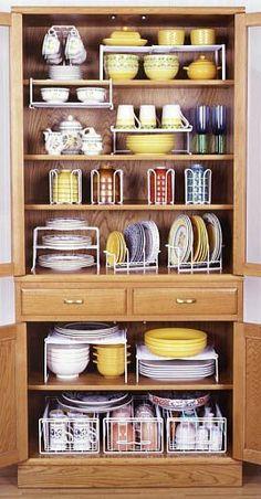 Kitchen Cabinets Organization Diy Cupboards 39 Ideas For 2019 Diy Kitchen Storage, Kitchen Cabinet Organization, Organization Ideas, Storage Ideas, Diy Storage, Dishes Organization, Cabinet Ideas, Pantry Storage, Pantry Diy