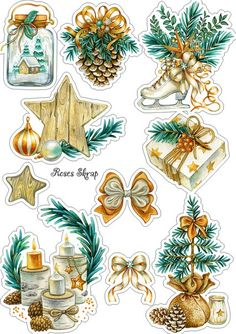 Terrific Snap Shots Scrapbooking Paper imprimibles Popular Scrap booking has become a business onto per se with modern years. It offers undoubtedly already bee Christmas Stickers, Christmas Clipart, Christmas Images, Christmas Tag, Christmas Printables, Vintage Christmas, Christmas Crafts, Christmas Decoupage, Christmas Ideas