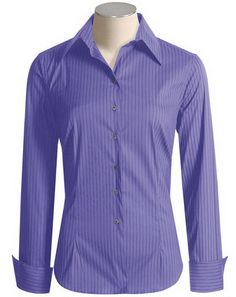 The bottom cut is the shirttail style that forms the dress shirt ending. A standard-fit dress shirt has a slightly baggy, but traditional full-cut appearance. Athletic cut shirts have a full chest but are tapered at the waist.