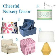 Colorful Design Elements for a Stylish Nursery