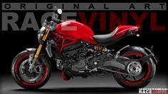 Racevinyl Ducati Monster 620 659 696 750 796 800 900 1000 1100 1200 ie S EVO S2R S4R S4RS Custom Tuning Pegatina llanta moto adhesivo vinilo sticker stripe rim wheel vinyl race logo