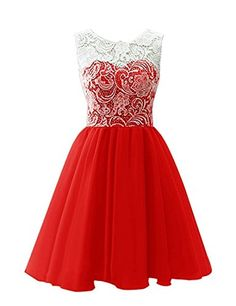 GIRLS WHITE LACE RED CHIFFON DIAMONTE TRIM SPECIAL OCCASION PROM PARTY DRESS