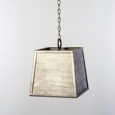 Raw Steel Box Pendant with Zinc Panels