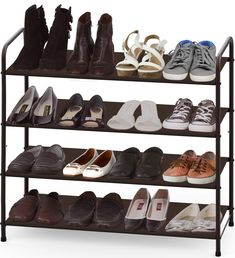 online shopping for Simple Houseware Shoe Rack Storage Organizer, Bronze from top store. See new offer for Simple Houseware Shoe Rack Storage Organizer, Bronze Shoe Storage Shelf, Hanging Shoe Storage, Shoe Rack Organization, Hanging Shoes, Shoe Organizer, Online Organizer, Organizers, Cheap Shoe Rack, Best Shoe Rack
