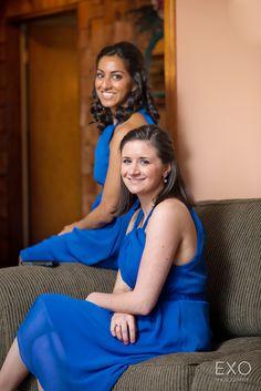 Pretty royal blue bridesmaid dresses