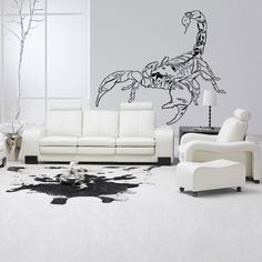 Wall Decal Vinyl Art Decor Sticker Design Scorpion Beetle Crab Tail Poison Sign Zodiac Spider Mural (M1072) DecorWallDecals http://www.amazon.com/dp/B00JSMY3VS/ref=cm_sw_r_pi_dp_FFK2ub1F114JW