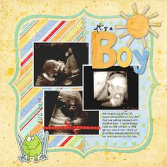 scrapbook page - new baby layout
