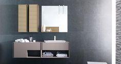 Muebles de baño. IN Roble Moka / Roble Sabana. GAMADECOR.