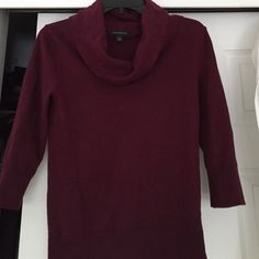 Banana republic eggplant cowl neck sweater 3/4  sleeves in excellent like new condition Banana Republic Sweaters Cowl & Turtlenecks