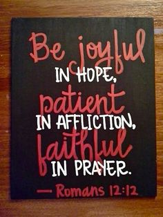 Hope, Affliction, Prayer