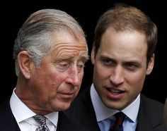 prince charles with prince william | Prince Charles talks to Prince William at St Pauls Cathedral after a ...
