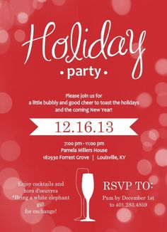 Chalkboard Holiday Party Invitation  Eat Drink And Be Merry
