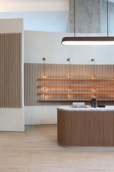 Showroom Design, Cafe Interior Design, Retail Interior, Interior Architecture, Interior Decorating, Decorating Games, Tanzstudio Design, Store Design, Pharmacy Design