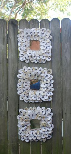 Oyster Shell Mirrors - Sold as a Set of 3 or individually