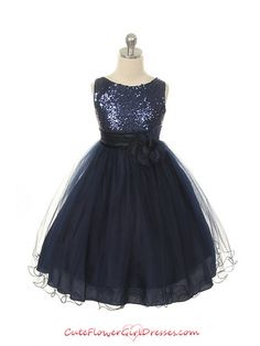 Midnight Blue Flower Girl Dress.... Omg this comes in champagne..... This is it!