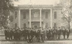 Mississippi Medical College once located in Meridian. 1890's.  Click on photo slide the green fade bar to see what's there now.