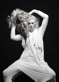 ASTONISHWorld presents Fashion Photographer Karina Jønson / Barbara Í Gongini #Photography #art #white  #Dark