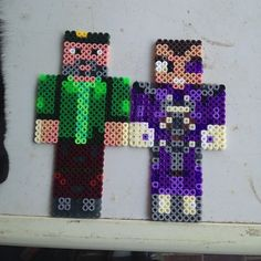 Vegetta777 and WillyRex Minecraft hama beads by rachel_loka