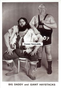 My nan used to watch this every Saturday afternoon. well there was only 3 channels then. Fat old men sitting on each other. - WORLD OF SPORT (UK TV series) Wrestling with Giant Haystacks and Big Daddy, 1965 - 1985 1980s Childhood, My Childhood Memories, Great Memories, Vintage Tv, Big Daddy, My Youth, Teenage Years, Old Tv, Before Us
