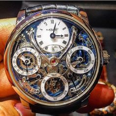 Incredible MB&F Legacy Machine Perpetual Calendar Amazing Watches, Beautiful Watches, Cool Watches, Rolex Watches, Stylish Watches, Luxury Watches For Men, Skeleton Watches, Swiss Army Watches, Expensive Watches
