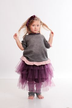 what shall I wear today? purple soft tulle ballerina skirt and ill pullover with powered pink soft furbelows on margins. kid fashion from www. Pink Soft, Designer Kids Clothes, Fall Winter 2014, Fairytale, Ballerina, Ruffles, Fall Outfits, Cool Style, Kids Fashion