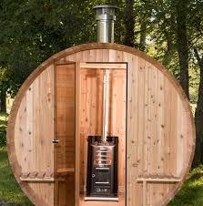 Image result for wood stove sauna