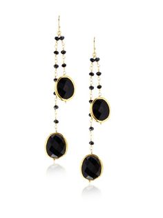 Heather Hawkins 2 Layer Onyx Earrings at MYHABIT
