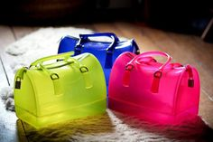 Furla Candy Boston bolsos flúor transparentes