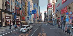 """A team of designers has taken iconic images of major global cities and added a """"rich graphic language and vibrant visual effects"""" to blend each one with elements of Japanese infrastruct…"""