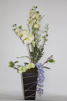 Arreglo de flores artificiales con toque oriental - Arreglos florales artificiales centros de mesa ...