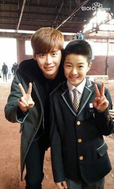 Lee Jong Suk and Nam Da Reum on Pinocchio set.