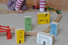 make your own city blocks for play..