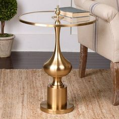 Uttermost Bertina Bronze Accent Table - 24495