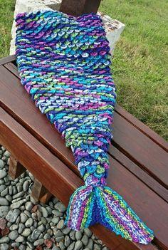 Crochet Mermaid Tail, Mermaid Tail Blanket, Mermaid Blankets, Mermaid Tails, Crochet Cocoon, Crochet Yarn, Crochet Blanket Patterns, Crochet Afghans, Crochet Blankets