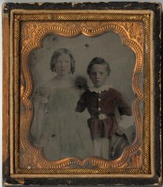 Daguerreotype of Mary and Charles Barnwell ca. 1855