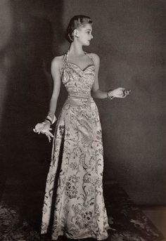 Image result for 1939 evening gown